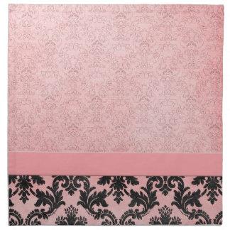 Servilletas elegantes rosadas de lujo del damasco