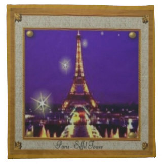 Servilletas enmarcadas del paño de la torre Eiffel