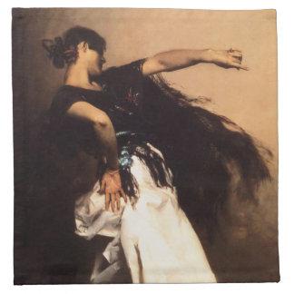 Servilletas españolas del bailarín de Sargent del