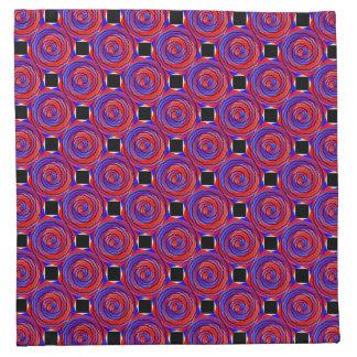 Servilletas espirales contrarias rojas y azules