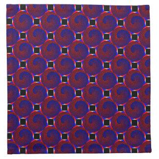 Servilletas espirales rojas y azules