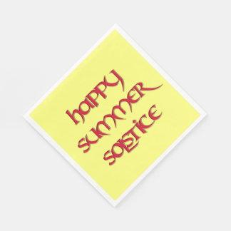 Servilletas felices del alumerzo del solsticio de servilletas de papel