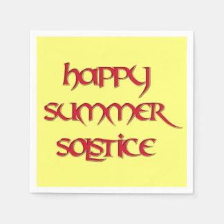 Servilletas felices del cóctel del solsticio de servilletas de papel