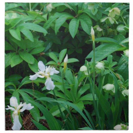 Servilletas florales blancas