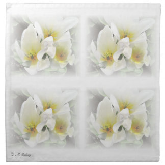 Servilletas florales blancas del boda