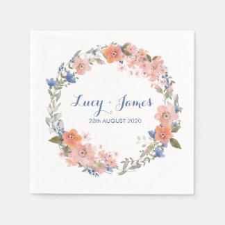 Servilletas florales del boda de la guirnalda del servilleta desechable