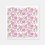 Servilletas florales rosadas Ditzy elegantes Servilletas Desechables
