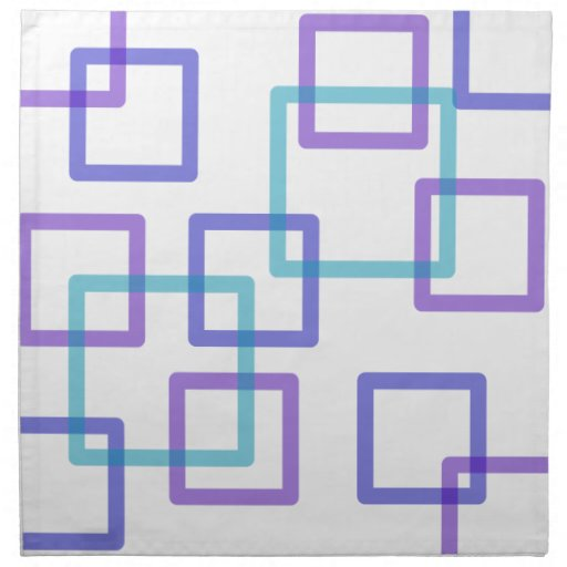 Servilletas geométricas de sobreposición de los cu