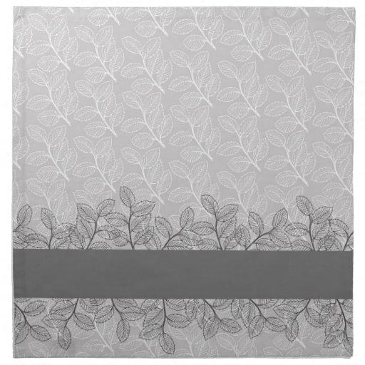 Servilletas grises elegantes del boda del damasco