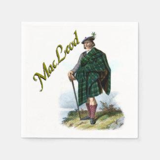 Servilletas ideales escocesas de MacLeod del clan Servilleta Desechable