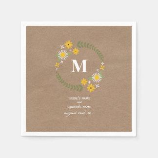 Servilletas inspiradas cartulina del boda de la servilleta de papel