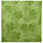 Servilletas irlandesas del paño del trébol verde