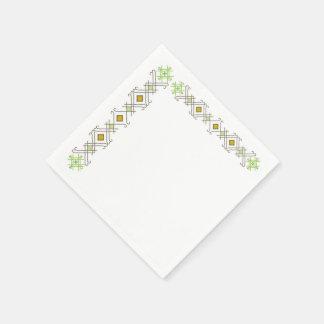 Servilletas letonas del cóctel con raksti servilletas de papel