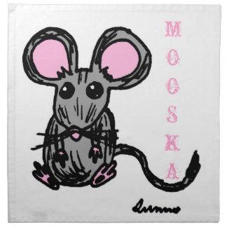 Servilletas lindas del ratón de Mooska - sistema d