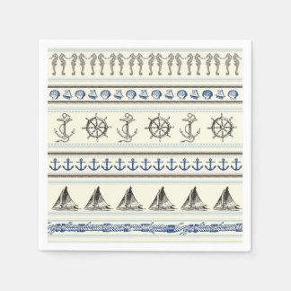 Servilletas náuticas de la vela del nudo de la servilleta de papel