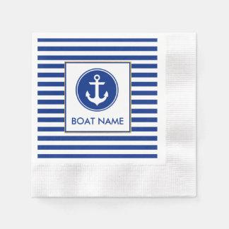 Servilletas náuticas del fiesta del nombre del servilletas de papel
