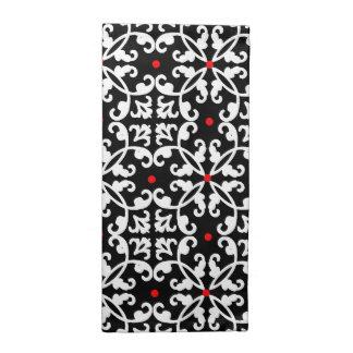 Servilletas negras, blancas, y rojas elegantes del