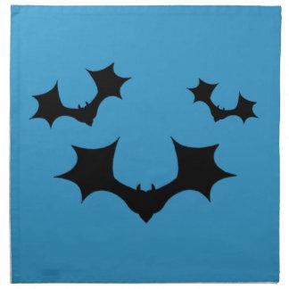 Servilletas negras de los palos de Halloween