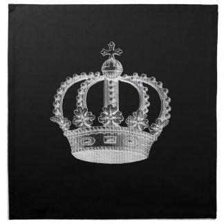Servilletas negras del paño de la corona (a) (fije