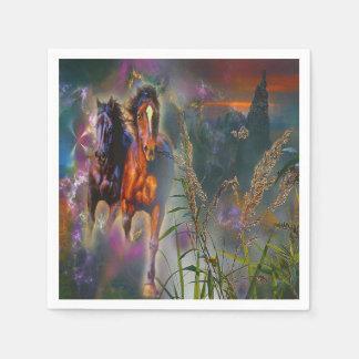 Servilletas occidentales magníficas del caballo servilleta de papel