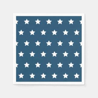 Servilletas patrióticas de las estrellas servilletas de papel