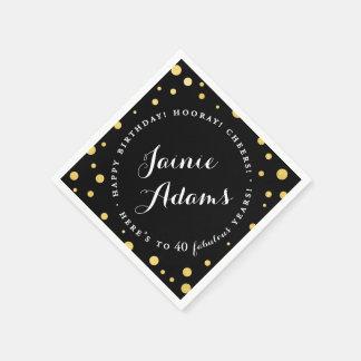 Servilletas personalizadas oro elegante de la servilleta desechable