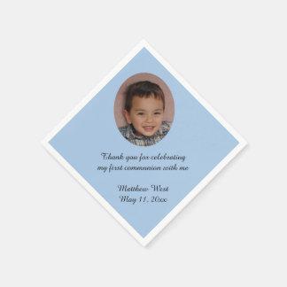 Servilletas personalizadas personalizado azul de servilleta de papel