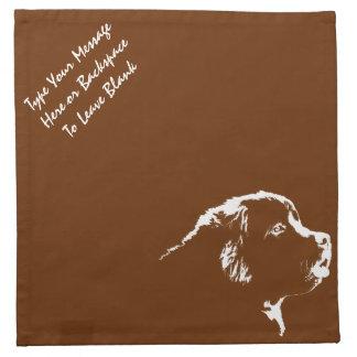 Servilletas personalizadas servilletas del perro d