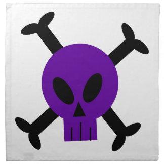 Servilletas púrpuras del cráneo y de la bandera pi