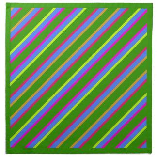 Servilletas rayadas diagonales del diseño