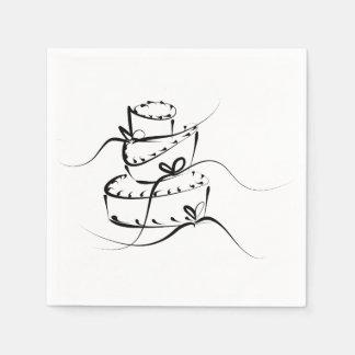 Servilletas revueltas del boda servilleta de papel
