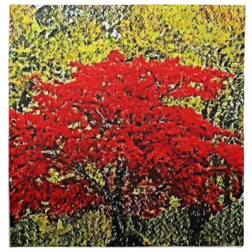 Servilletas rojas #2 del arte de la pintura del ot