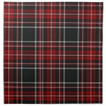 Servilletas rojas de la tela escocesa/del tartán