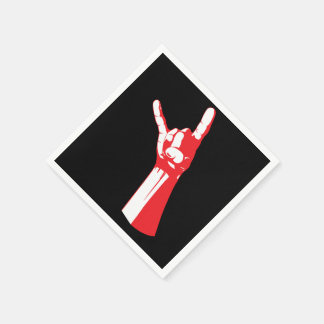 Servilletas rojas del cuerno del metal servilleta desechable