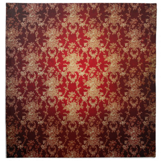 Servilletas rojas del damasco del vintage