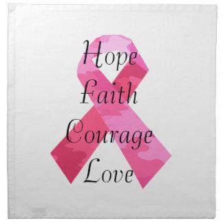 Servilletas rosadas de la fe de la cinta del camuf