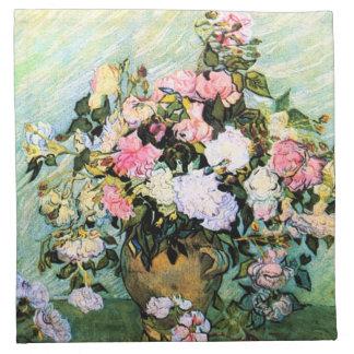 Servilletas rosadas de los rosas de Van Gogh