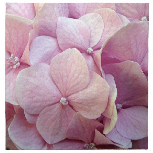 Servilletas rosadas del boda del Hydrangea de la b