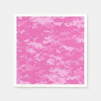 Servilletas rosadas del modelo del camuflaje del servilleta desechable