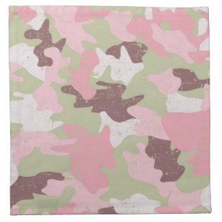 Servilletas rosadas del paño del camuflaje