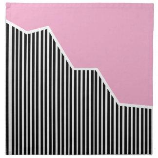 Servilletas rosadas del zigzag y de las rayas y bl