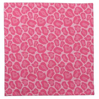 Servilletas rosadas femeninas del modelo del leopa