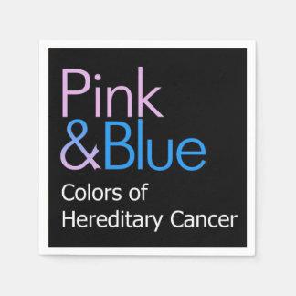 Servilletas rosadas y azules del cóctel servilletas desechables