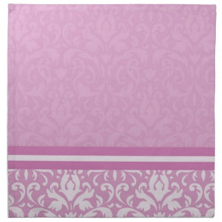 Servilletas rosas claras florales de lujo del dama