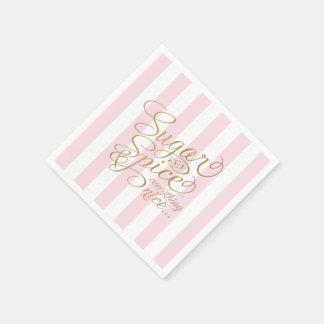 Servilletas temáticas del azúcar y de la especia servilletas de papel
