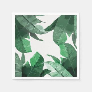 Servilletas tropicales de la impresión de la palma servilletas desechables