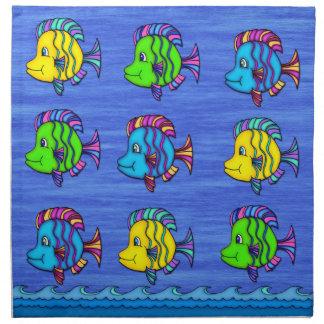 Servilletas tropicales del paño de los pescados 1