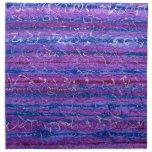 Servilletas violetas del paño de la hora - sistema