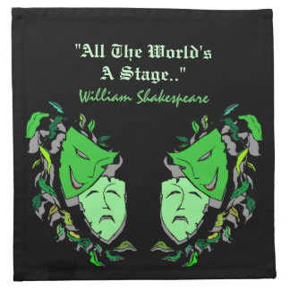Servilletas William Shakespeare del fiesta del mis