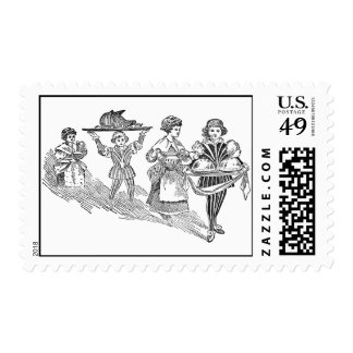 Serving a Feast Postage